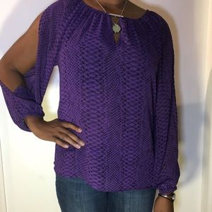 MICHEAL Michael Kors Purple long sleeve shirt Sz L